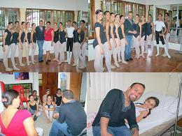 Visita de Carlos Joaquin a Ballet Contempora R.D.