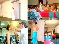 Adalgisa Pantaleon (Grupo 440) Y Yeira Genao  (Ballet Contempora) Dan Toque artistico al lanzamiento de primavera del Diseñador Jose Luis Victoria en Republica Dominicana.