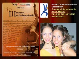 Yeira y Lina Paola Genao..y su Apretada agenda para el 2009 junto a Compañía de jovenes bailarines de Ballet Contempora